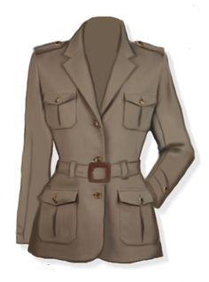 Safari style, giacca sahariana per donna, 4 cartamodelli in 4 taglie differenti