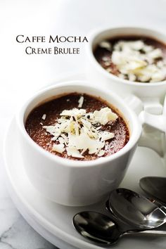Caffe Mocha Creme Brulee - Delicious and decadent chocolate custard with notes of espresso and a crispy sugar crust.