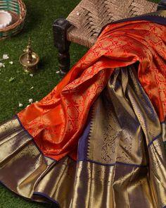 Get The Traditional Silk Sarees in Best Hues Here! Kanjivaram Sarees Silk, Blue Silk Saree, Kanchipuram Saree, Soft Silk Sarees, Pattu Sarees Wedding, Indian Bridal Sarees, Wedding Silk Saree, Saree Color Combinations, Wedding Saree Collection