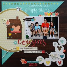 #papercrafting #scrapbook #layout - by design team member Suzanna Lee
