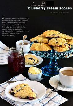 Easy Homemade Blueberry Cream Scones recipe at TidyMom.net