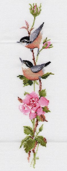 Poppies Cross Stitch Kit from Classic Embroidery Cross Stitch Bookmarks, Cross Stitch Bird, Cross Stitch Flowers, Counted Cross Stitch Patterns, Cross Stitch Designs, Cross Stitch Borders, Cross Stitching, Cross Stitch Embroidery, Embroidery Patterns