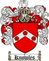 Knowles Coat of Arms / Knowles Family Crest - www.4crests.com #coatofarms #familycrest #familycrests #coatsofarms #heraldry #family #genealogy #familyreunion #names #history #medieval #codeofarms #familyshield #shield #crest #clan #badge #geneology #tattoo #ancestry