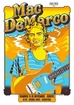 Mac DeMarco gig poster 2015