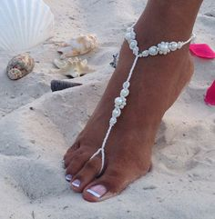 Pearl Bridal Barefoot Sandals Wedding by TheBridalBOWtique on Etsy