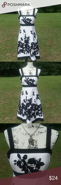 Sundress Black and white sundress cotten and nice to wear for casual or dress attire. R&K Originals Dresses Midi