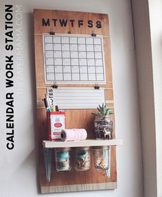 Keep your family on track with this brilliant #DIY calendar station, made from stuff you already have! genius.