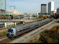 Amtrak's Second Annual Autumn Express excursion runs on CSX's Philadelphia Subdivision to connect to NS's ex Reading. Since CSX needed its High Line for last minute track work, Amtrak had to reroute its excursion on the Philadelphia Sub, offering this once in a lifetime photo opportunity of an Amtrak train on true rare mileage trackage. Metroliner Conference Car brings up the rear of the consist of 16 cars and two locomotives.