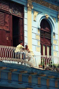 balcon à Cuba, La Havane