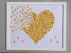 White and Yellow butterflies painting Wall  ART 3D by Gabiworks