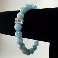 Aquamarine Bracelet/ blue/ Aquamarine/ by angelovajewelry on Etsy