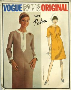 Vogue Paris Original #1699  ERA: 60s   SKU-23695 10 - 31 Bust 33 Hip