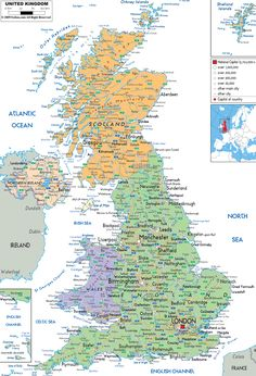 map of uk | map of united kingdom and united kingdom details maps the