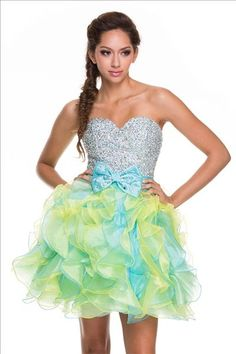 Short Ruffled Prom Dresses