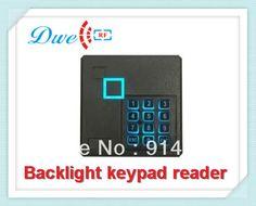 Free shipping +125khz EM-ID door access control backlight rfid proximity keypad reader