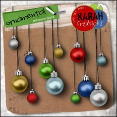 Ornamental element pack by Karah Fredricks ... Digital Scrapbooking