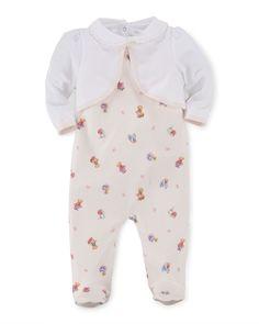 Bolero, Overalls & Playsuit Layette Set, Light Pink/Multicolor, Size 3-9 Months, Pink Multi - Ralph Lauren Childrenswear