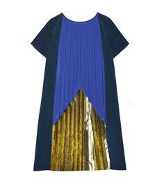 pleated pyramid dress