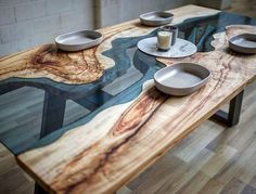 Perfect wood and glass combination! #tables #woodworking #glass #design