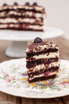 Black Forest Cake just got darker, moodier and tastier. Dark chocolate layers filled with vanilla and brandy mousse and Italian Amarena cherries.