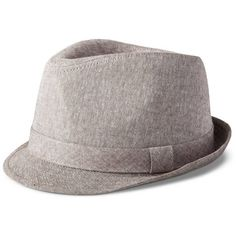 b9d15f4cfb7 Men s Linen Fedora Brown   ( 17) ❤ liked on Polyvore featuring men s  fashion