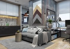 Minimalist Apartment Design Combined With Modern Interior Decor Looks Trendy and Awesome