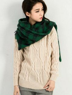 Warm Cable Knit Sweater $23.50
