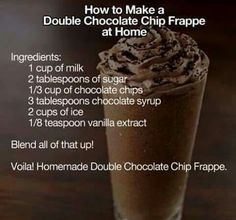 Me and my BFF made this once! It was very yummy and tasted just like one from Starbucks! You might need more than what the recipe tells you, so just play around with the ingredients until it's right for you. Enjoy!