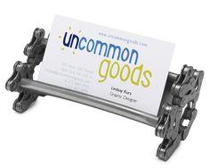 Great gift for men: bike chain business card holder
