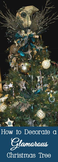 If you love glitz and glamor, why not decorate your Christmas tree in a glamorous way?   You don't need to settle for plain red ornaments.  Here are a few ways to add glamour to your Christmas tree.