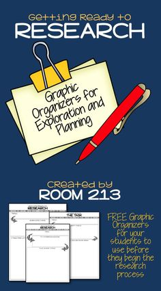 FREE graphic organizers to help your students plan their research process.