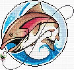 Rainbow trout (fish, angling, hook, fishing, fisherman)