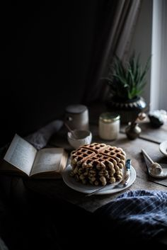 earl grey waffles & whipped honey cream + 3 yrs of local milk (Local Milk) Food Photography Styling, Food Styling, Photography Composition, Coffee Photography, Dark Photography, How To Make Waffles, Key Food, Local Milk, Earl Gray