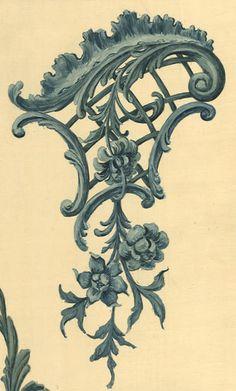 motif rocaille du XVIIIe siècle