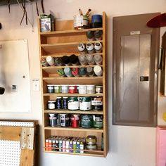 Garage Paint Organizer