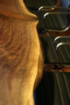 Real wood conference table. So cool!
