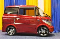 The Eo is a three-seat electric quadricycle created by Ample International and unveiled at the Electric Vehicle Symposium