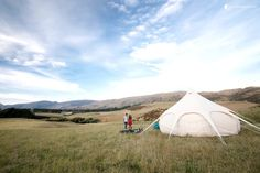 Luxury Tent Queenstown — Situated in the part of the country considered to be nature's playground, giving its inhabitants and tourists alike plenty of outdoor activities with the gorgeous backdrop of the Southland vegetation and wildlife.  #Glamping #GlampingHub #Travel #Explore #Unique #Beauty #NewZealand #SouthIsland #Tents #Luxury #Nature