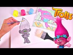 Trolls movie artwork diy troll painting dreamworks poppy youtube