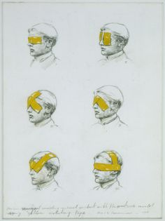 Michael Borremans – Various ways of avoiding visual contact with the outside world using yellow isolating tape, 1998 Art And Illustration, Amazing Drawings, Art Drawings, Michael Borremans, Inspiration Art, Mundo Animal, Art Graphique, Old Art, Art Design