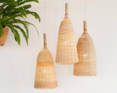 Bamboo Pendant Light, Repurposed Fish Trap Ceiling Lamp, Asian Oblong and Round Woven Bamboo Hanging Lamp, Boho Chinese Lantern / Round Pendant Light, Bamboo Pendant Light, Bamboo Light, Bamboo Lamp, Trap, Ceiling Canopy, Ceiling Lamp, How To Make Lanterns, Ethnic Design