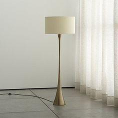Melrose Brass Floor Lamp | Crate and Barrel $379 - on backorder