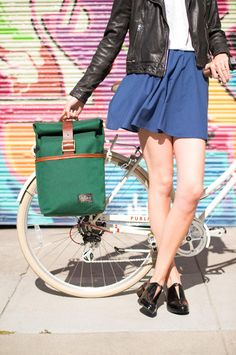 Meet your new favorite bag: this bike-friendly backpack by Motley Goods. #etsyfinds