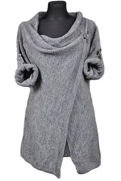 Women's Acrylic Soft Knit Long Sleeve One-Button Wrap Cardigan novashe.com