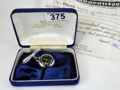 375) 1970's Rone pendant watch – unworn condition – in box plus papers Est. £20-£30