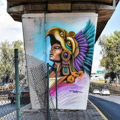"227 curtidas, 2 comentários - @tschelovek_graffiti no Instagram: ""@dovlez in Mexico City. Photo by @gilberto106. #dovlez #streetartmexico #mexicostreetart…"""