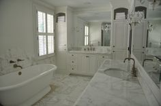 master bath. white, gold and grey