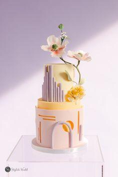 Affordable Wedding Invitations, Elegant Wedding Invitations, Wedding Gifts For Bridesmaids, Wedding Cakes With Flowers, Just Cakes, Toronto Wedding, Lavender Flowers, Cake Art, Unique Weddings