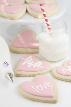Conversation Heart Cookies by @Paula - bell'alimento