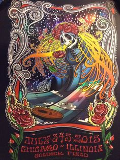 Fare Thee Well Poster Conscious Alliance x 1000 Foil Grateful Dead Chicago Print   eBay
